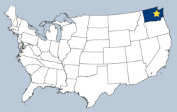 map showing the location of Bellevue in the USA