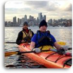 Kayakers in Puget Sound